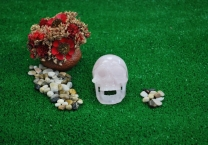 Singing Rose quartz Crystal skull