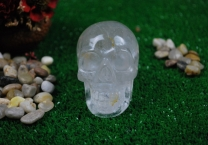 Crystal quartz Skull