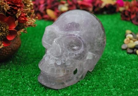 Amethyst crystal Skull