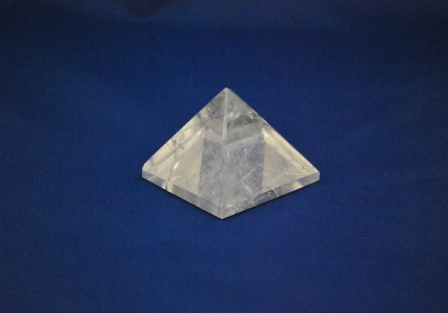 Crystal quartz pyramid