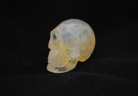 Citrine and Opalite Skull