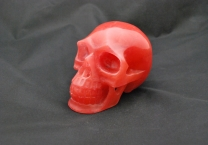 Strawberry quartz Skull