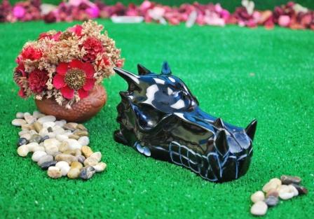 Obsidian Dragon skull