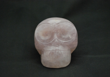 Mongolian style Rose quartz Skull