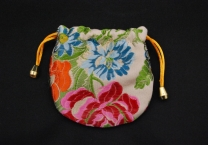Floral lined pouch