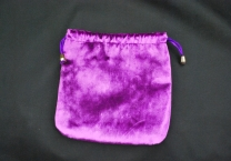 Violet lined pouch