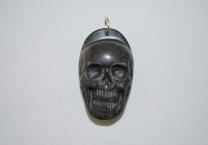Avalon Black stone skull pendant