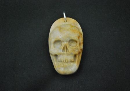 Sarsen stone skull pendant