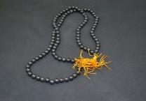 Black agate mala, 108 Beads