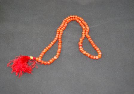 Carnelian mala, 108 Beads