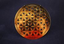 Flower of Life, Gold plated