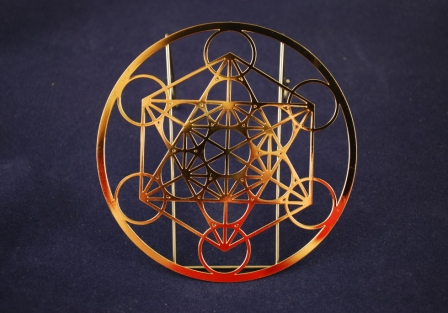 Metatron's Cube, Gold plated