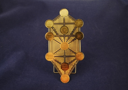 Kabbalah Tree of Life, Gold plated