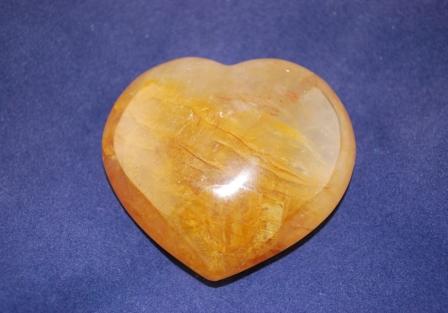 Golden Healer quartz Heart