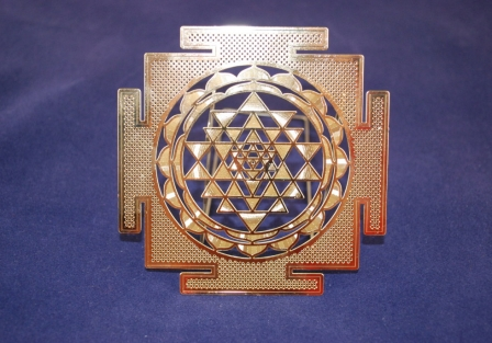 Sri Yantra, Gold plated