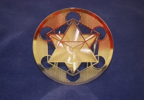 Star Tetrahedron, Gold plated