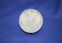 Crystal quartz sphere with Chlorite