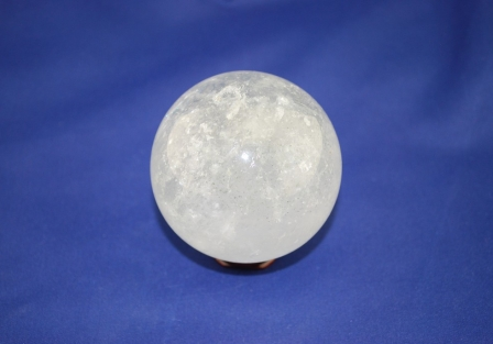 Crystal quartz sphere with Chlorite