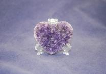 Amethyst Geode Heart