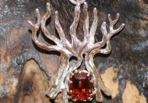 Tree of Eternity with Red Tourmaline