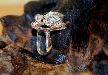 Rutile Heliodor ring