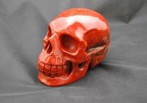 Red jasper Skull