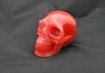 Strawberry quartz Skull