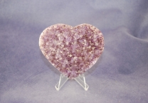 Amethyst with Goethite Geode Heart
