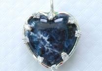 Sodalite Heart Pendant